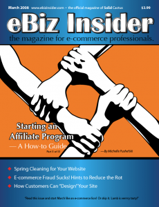 Cover of the March 2008 Issue of eBiz Insider Magazine