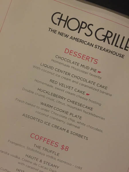 Chops Grille On Royal Caribbean Cruise Line