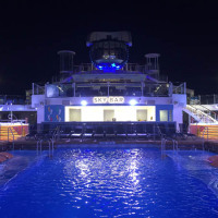 Nightime at the pool on Quantum of the Seas