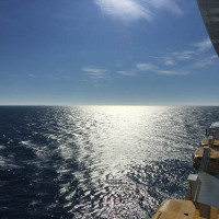 A beautiful last day at sea on Quantum of the Seas