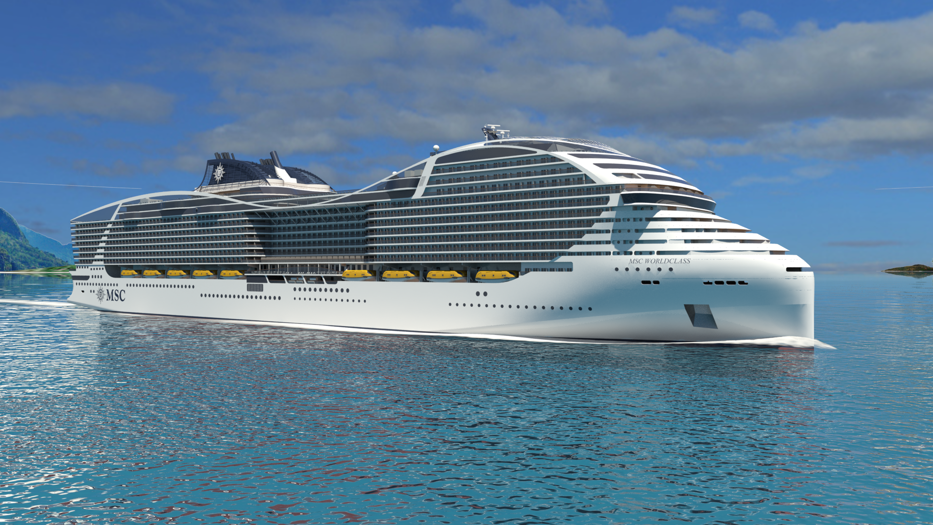 MSC To Launch First Worldclass Cruise Ship In Scott Sanfilippo - First cruise ship in the world