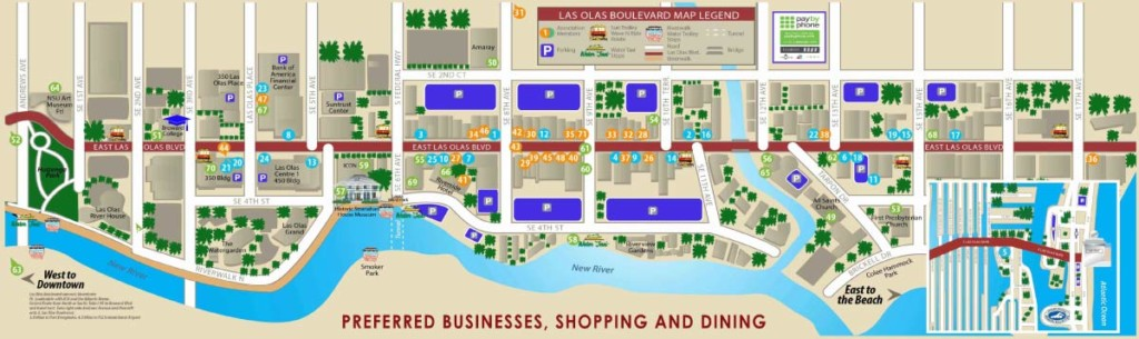 Map Of Las Olas Blvd In Fort Lauderdale Photo Courtesy The Ociation
